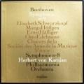 【モノラル】カラヤンのベートーヴェン/交響曲第8番&第9番「合唱付き」 仏Columbia 3015 LP レコード