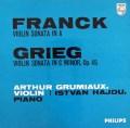 【モノラル】グリュミオーのフランク&グリーグ/ヴァイオリンソナタ集  英PHILIPS 3018 LP レコード