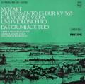 グリュミオー・トリオのモーツァルト/弦楽三重奏のためのディヴェルティメント  蘭PHILIPS 3018 LP レコード