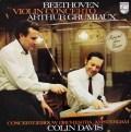 グリュミオー&デイヴィスのベートーヴェン/ヴァイオリン協奏曲  蘭PHILIPS 3018 LP レコード
