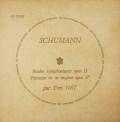 【モノラル】ナットのシューマン/「交響的練習曲」&「幻想曲」  仏DF 3018 LP レコード