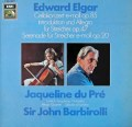 デュ・プレ&バルビローリのエルガー/チェロ協奏曲ほか  独EMI 3022 LP レコード