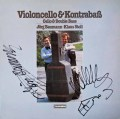 【サイン入り】バウマン&シュトゥールのチェロとコントラバスのための作品集  独TELEFUNKEN 3022 LP レコード