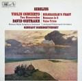 【オリジナル盤】ロジェストヴェンスキー&オイストラフのシベリウス/ヴァイオリン協奏曲ほか   英EMI 3024 LP レコード