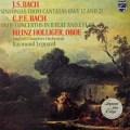 ホリガー&レッパードのC.P.E.バッハ/オーボエ協奏曲ほか 蘭PHILIPS 3040 LP レコード