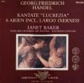 ベイカー&レッパードのヘンデル/カンタータ「ルクレツィア」ほか 蘭PHILIPS 3041 LP レコード