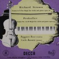 【独最初期盤】リッチのR.シュトラウス&プロコフィエフ/ヴァイオリン・ソナタ 独DECCA 3045 LP レコード