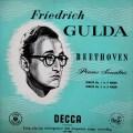 【オリジナル盤】グルダのベートーヴェン/ピアノソナタ第1・2番 英DECCA 3046 LP レコード