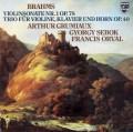 グリュミオー&シェベークのブラームス/ヴァイオリン・ソナタ第1番ほか 蘭PHILIPS 3047 LP レコード