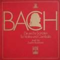 スーク&ルージチコヴァーのバッハ/ヴァイオリンとチェンバロのためのソナタ集 独EMI 3101 LP レコード