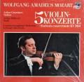 【未開封】 グリュミオー&デイヴィスのモーツァルト/ヴァイオリン協奏曲集 独PHILIPS 3102 LP レコード