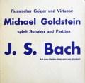 【非売品】ゴルトシュタインのバッハ/無伴奏ヴァイオリンのためのパルティータ第2&3番 独Michael Goldstein 3103 LP レコード