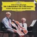 ロストロポーヴィチ&ゼルキンのブラームス/チェロソナタ第1&2番 独DGG 3104 LP レコード