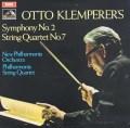 クレンペラーの自作自演/交響曲第2番&弦楽四重奏曲第7番 英EMI 3106 LP レコード