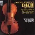 クイケンのバッハ/無伴奏ヴァイオリンのためのソナタ&パルティータ全曲 独HM 3106 LP レコード