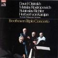 オイストラフ、ロストロポーヴィチ、リヒテル&カラヤンのベートーヴェン/三重協奏曲 英EMI 3107 LP レコード