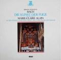 マリー=クレール・アランのバッハ/フーガの技法 仏ERATO 3109 LP レコード