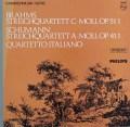 イタリア四重奏団のブラームス&シューマン/弦楽四重奏曲集 蘭PHILIPS 3114 LP レコード