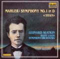 スラットキンのマーラー/交響曲第1番「巨人」 独TELARC 3116 LP レコード