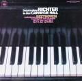 リヒテルのカーネギーホール・ライヴ(1) ベートーヴェン/ピアノソナタ第3&7番 独CBS 3118 LP レコード