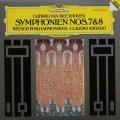 アバドのベートーヴェン/交響曲第7&8番 独DGG 3005 LP レコード