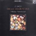 アーノンクールのバッハ/無伴奏チェロ組曲第5&6番  仏HM 2926 LP レコード