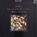 アーノンクールのバッハ/無伴奏チェロ組曲第5&6番  仏HM 2932 LP レコード