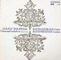オイストラフ&ピシュナーのバッハ/ヴァイオリンとチェンバロのためのソナタ第4〜6番 独ETERNA 3034 LP レコード