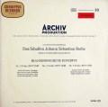 【赤ステレオ】 バウムガルトナーのバッハ/ブランデンブルグ協奏曲第2、3&5番 独ARCHIV 2932
