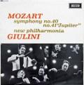 ジュリーニのモーツァルト/交響曲第40&41番「ジュピター」 英DECCA 3005 LP レコード