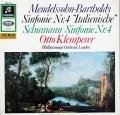 クレンペラーのメンデルスゾーン/交響曲第4番「イタリア」ほか 独Columbia 2932 LP レコード