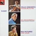 デュ・プレ&バルビローリのエルガー/チェロ協奏曲ほか 英EMI 3019 LP レコード