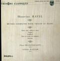 フランチェスカッティ&バルサムのラヴェル/ツィガーヌほか 仏PHILIPS 3019 LP レコード