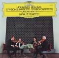 ラサール四重奏団のブラームス/弦楽四重奏曲第1&2番 独DGG 3036 LP レコード