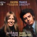 デュ・プレ&バレンボイムのショパン&フランク/チェロソナタ集 独EMI 3023 LP レコード