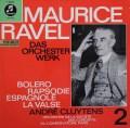 クリュイタンスのラヴェル/「ボレロ」ほか 独columbia 2910 LP レコード