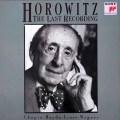 ホロヴィッツ、ラストレコーディング 独SONY CLASSICAL 2928 LP レコード