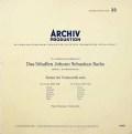 【モノラル】フルニエのバッハ/無伴奏チェロ組曲第3&4番 独ARCHIV 2928 LP レコード