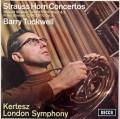 タックウェル&ケルテスのR.シュトラウス/ホルン協奏曲集 英DECCA 3017 LP レコード