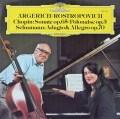 アルゲリッチ&ロストロポーヴィチのショパン/チェロソナタほか 独DGG 2928 LP レコード