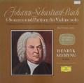 シェリングのバッハ/無伴奏ヴァイオリンソナタとパルティータ全曲 独DGG 3017 LP レコード