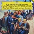 バーンスタインのハリス&W.シューマン/交響曲集 独DGG 2905 LP レコード