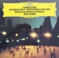 小澤のアイヴス/「宵闇のセントラルパーク」&交響曲第4番 独DGG 2836 LP レコード