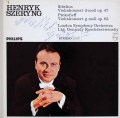 【直筆サイン入り】 シェリング&ロジェストヴェンスキーのシベリウス&プロコフィエフ/ヴァイオリン協奏曲 蘭PHILIPS 3017 LP レコード