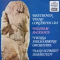 バックハウス&イッセルシュテットのベートーヴェン/ピアノ協奏曲第1&2番 英DECCA   2922 LP レコード
