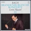 【直筆サイン入り】 マゼールのバッハ/ブランデンブルク協奏曲全曲 蘭PHILIPS 3025 LP レコード