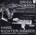 リヒター=ハーザー&モラルトのグリーグ&シューマン/ピアノ協奏曲集 蘭PHILIPS 2922 LP レコード