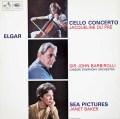 デュ・プレ&バルビローリのエルガー/チェロ協奏曲ほか 英EMI 3010 LP レコード