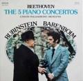 ルービンシュタイン&バレンボイムのベートーヴェン/ピアノ協奏曲全集 伊RCA 2924 LP レコード