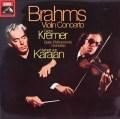 クレーメル&カラヤンのブラームス/ヴァイオリン協奏曲 英EMI 2842 LP レコード